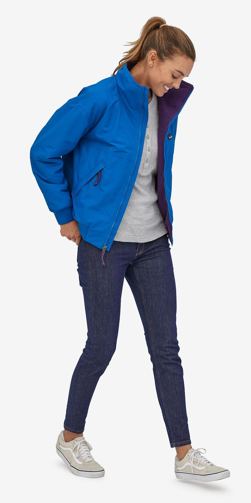 Patagonia coats for the whole family: An oversized bomber style for teen girls.