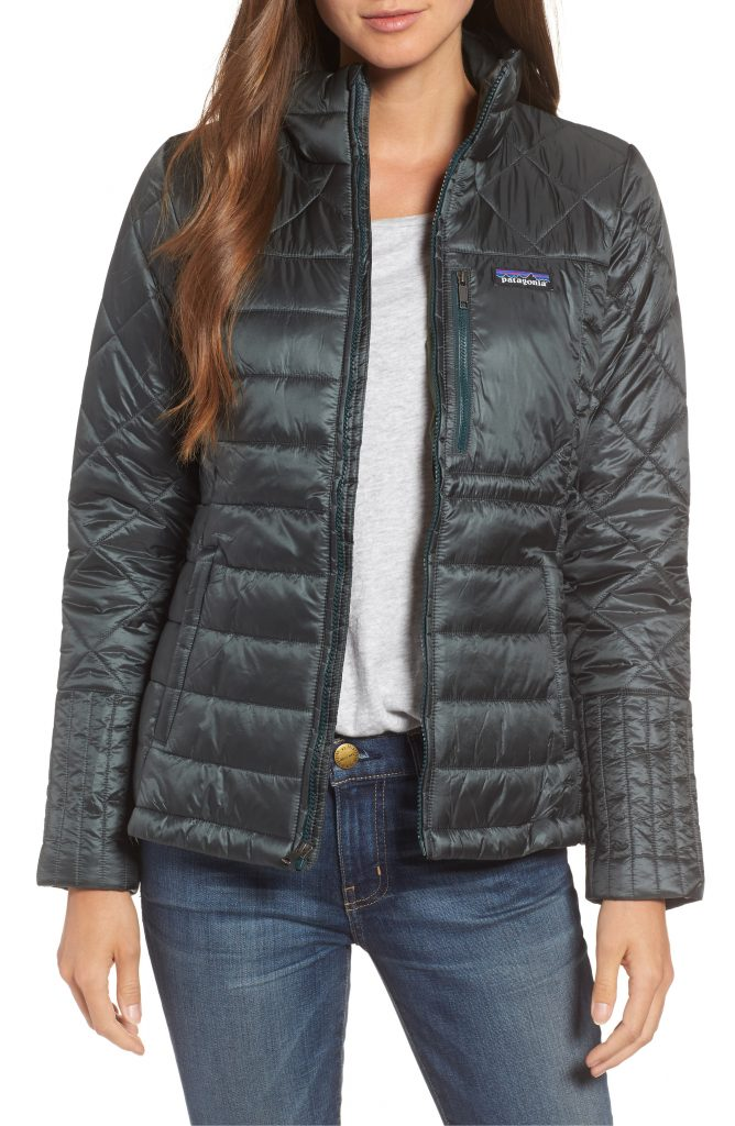 Patagonia's Radalie jacket for fall is water repellent, insulated and a great transitional piece
