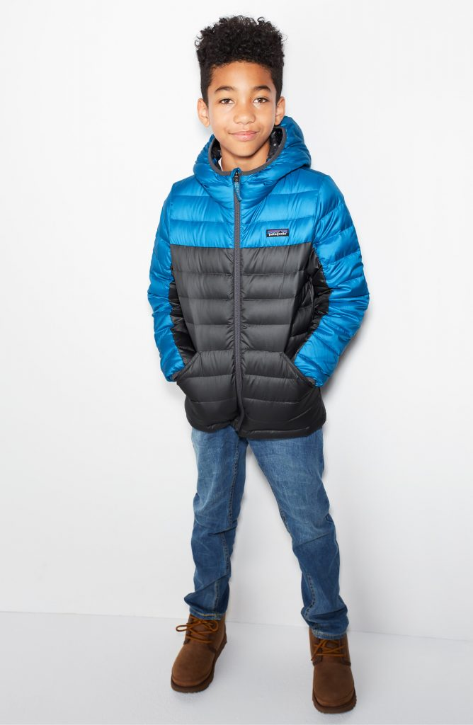 Patagonia Water Repellent Sweater Hoodie Jacket for kids is reversible, practical, and built to last