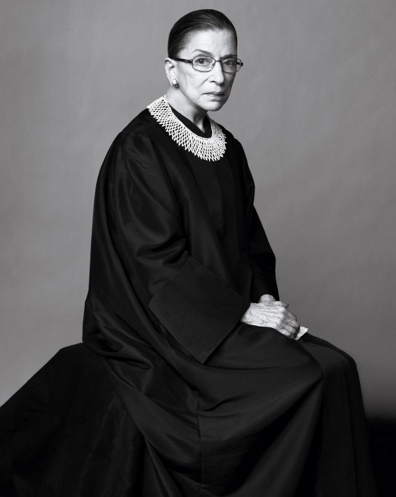 Ruth Bader Ginsburg portrait by Ruven Afanador
