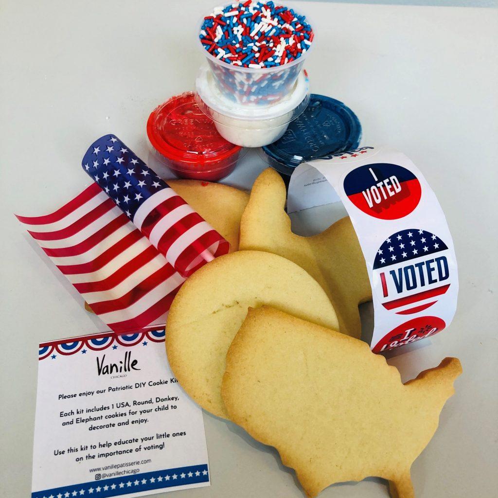 DIY vote cookie kit for kids from Vanille Patisserie