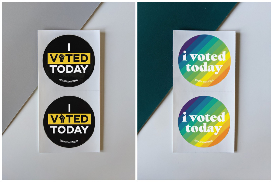 7 wonderful I Voted stickers for those not voting at the polls this year