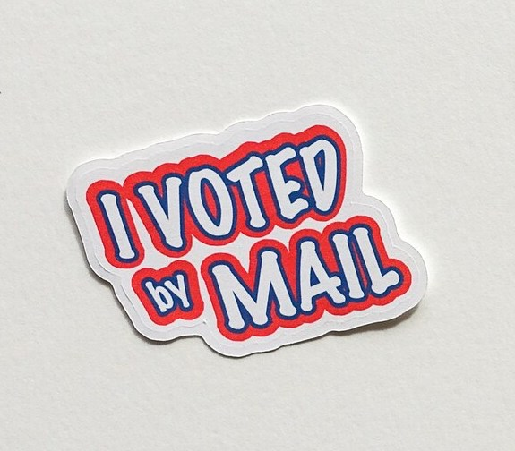 I Voted stickers: Even if you vote by mail, you can still have a sticker from Pika and Marmot!