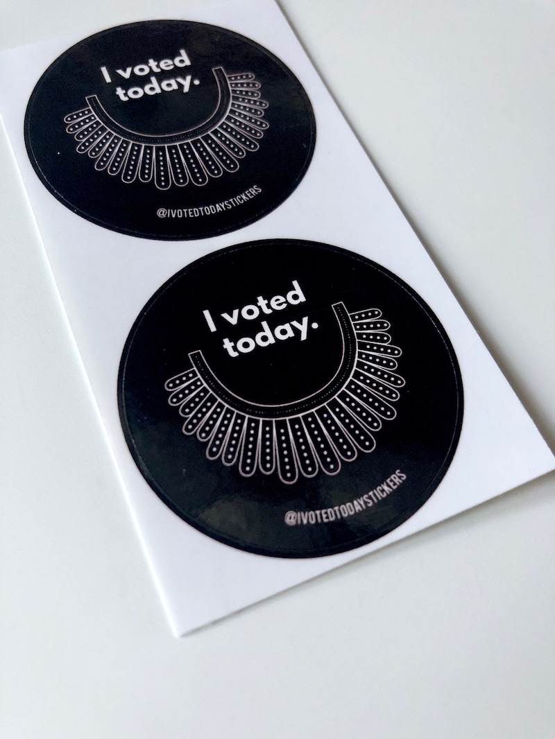 I Voted stickers: Register your dissent with these RBG stickers from I Voted Today.