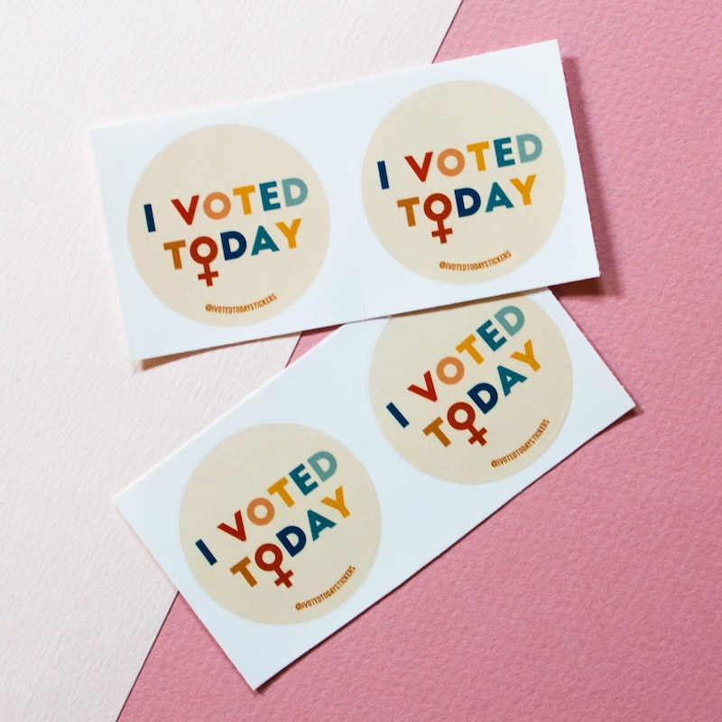 I Voted stickers: Women (and men) who vote for women's rights need these stickers from I Voted Today.