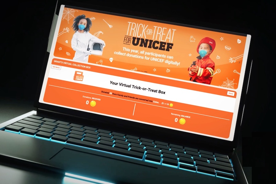 How to trick-or-treat for UNICEF, virtually!