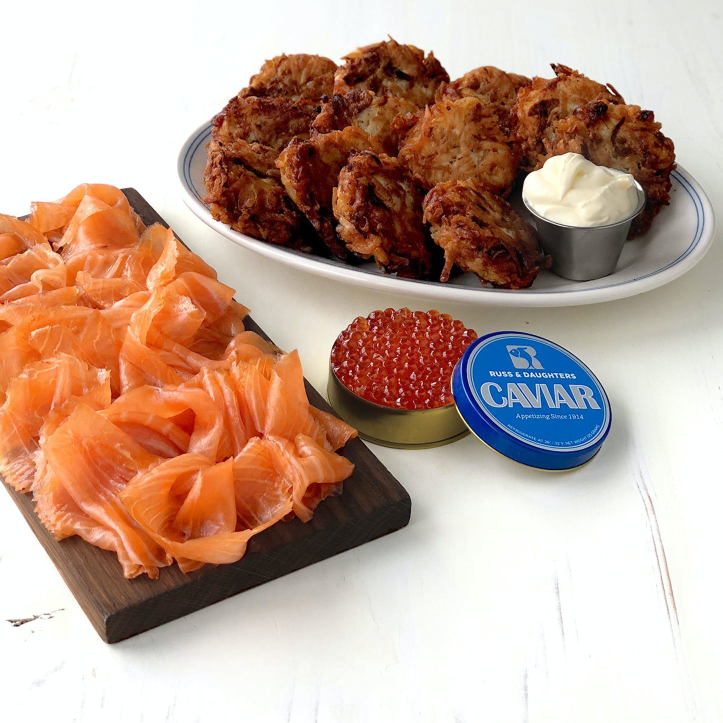 Best Hanukkah gifts from small businesses: Deluxe Hanukkah food basket from Russ & Daughters