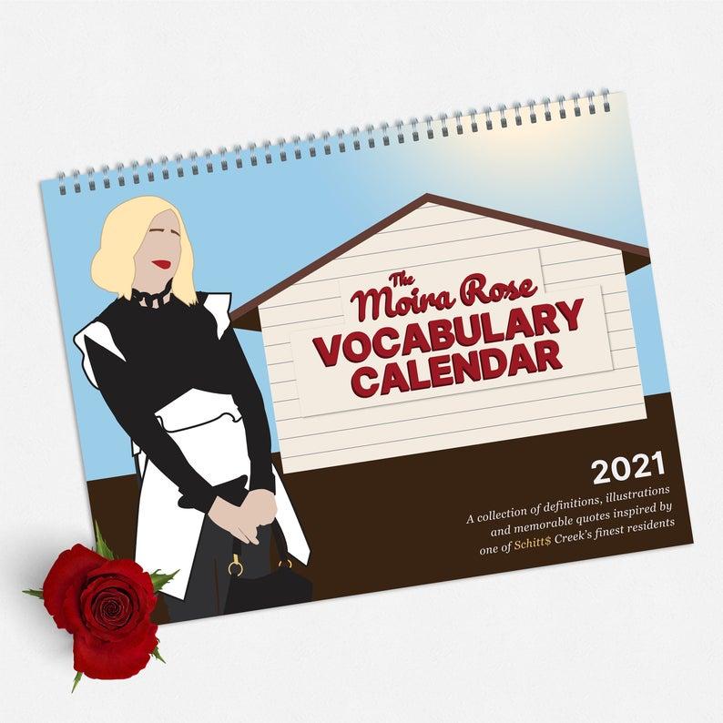 Gift them a year of Schitt's Creek with the Moira Rose 2021 Vocabulary Calendar