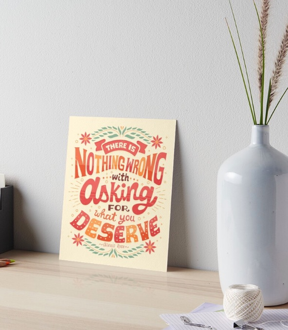 Schitt's Creek gift: Art print featuring quote by Alexis Rose designed by Risa Rodil for Red Bubble