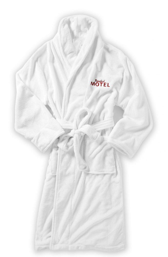 Schitt's Creek gift: An official Rosebud Motel terry robe