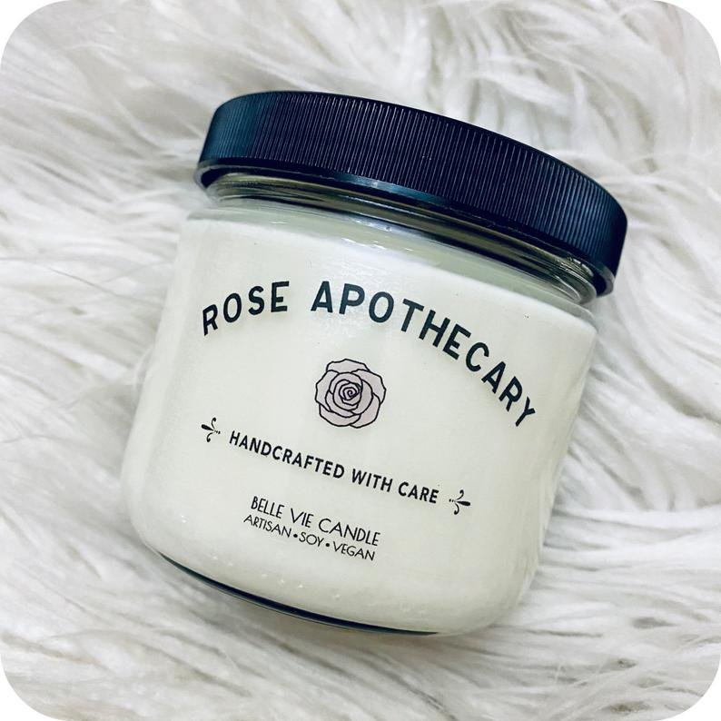 Grab a beautiful-smelling soy candle from Schitt's Creek's Rose Apothecary, made by BelleVie Candle