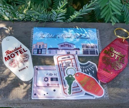 Schitt's Creek sticker set by Tayroar Design makes a great stocking stuffer