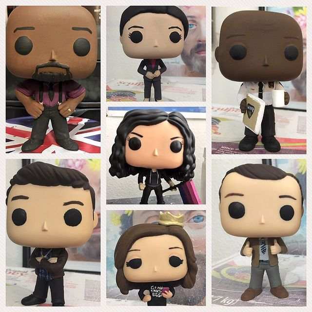 10 best gifts for teens: Custom Funko Pop from Little Pop Workshop (Brooklyn 99 cast shown here) | Small business holiday gift guide 2002