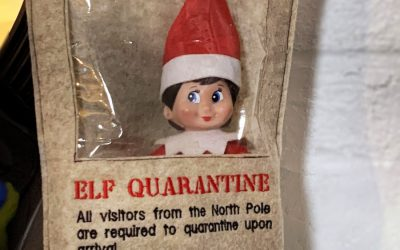 Quarantining your Elf on the Shelf. Is anything more holiday 2020 than this?