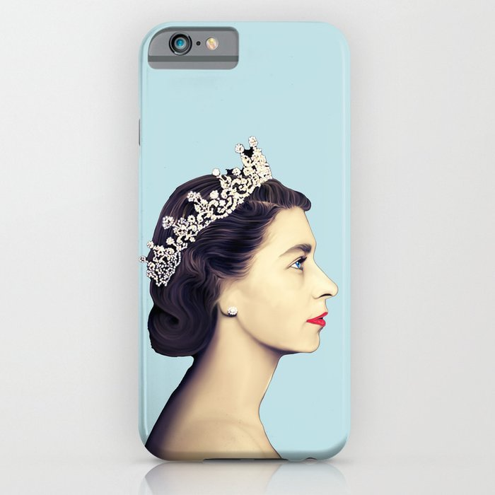 Gift ideas for The Crown fans: A young Elizabeth II phone case.