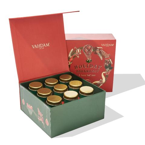10 best grandparent gifts for the holidays from small businesses: The delicious, gorgeously packaged holiday tea sets from Vahdam