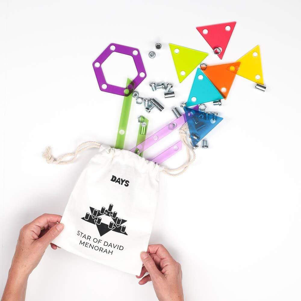Best Hanukkah gifts from small businesses: The Hanukkah in a box kit for kids from Modern Tribe