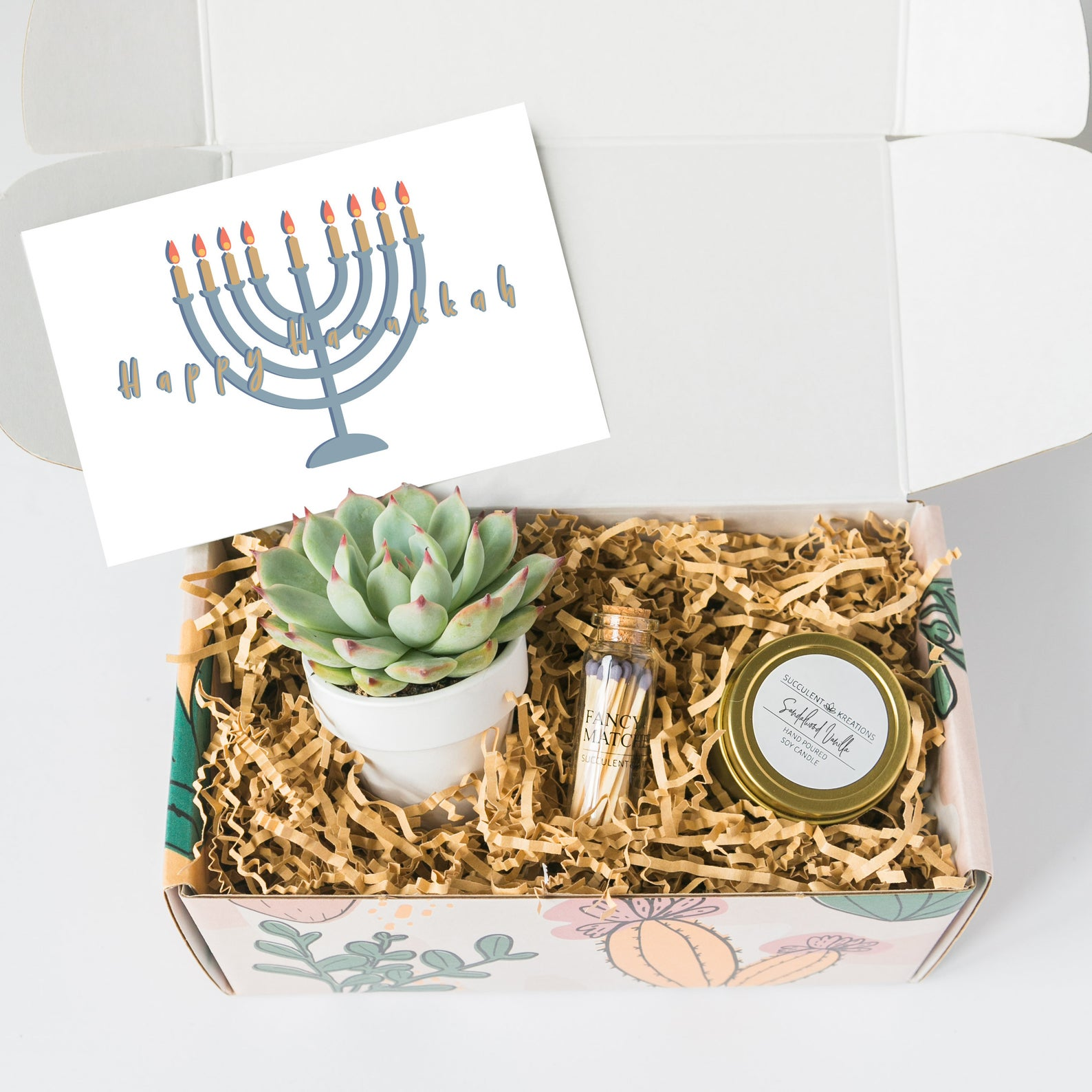 Best Hanukkah gifts from small businesses: a Hanukkah succulent gift box
