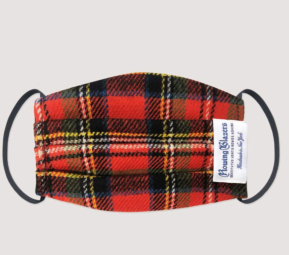 Best gifts for men: Tartan Plaid Face Mask from Rowing Blazers | Small Business Holiday Gifts 2020