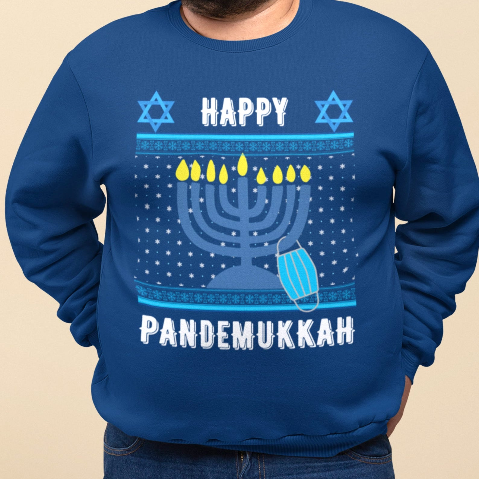 Best Hanukkah gifts from small businesses: Happy Pandemmukah sweatshirt from CornerThree Designs