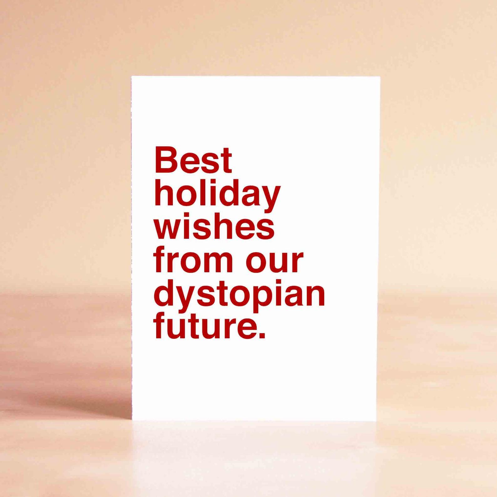 Funny Christmas cards for 2020: Dystopian future Christmas card | Sad Shop