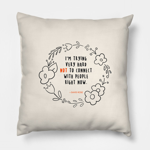 Schitt's Creek gift: David Rose throw pillow from Teepublic's Nerdy Designs