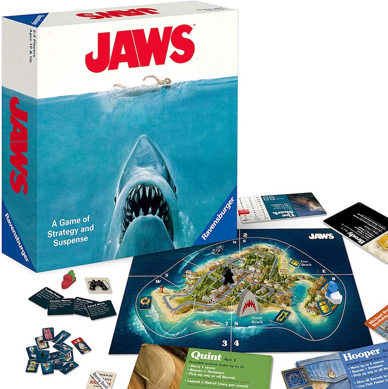80s movies board games: You can play the new Jaws strategy game in about 1 hour.