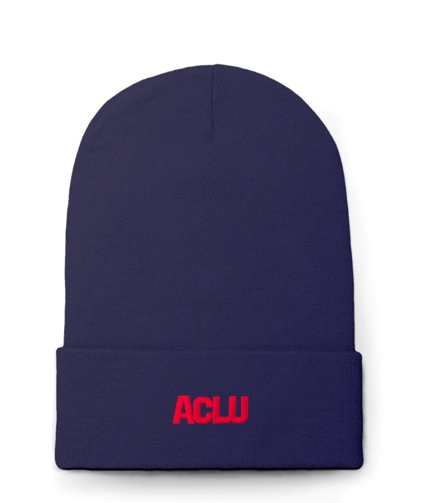 ACLU logo beanie and other political gifts for women