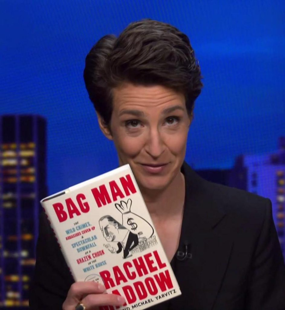 Political gifts for women: Bag Man, the new book from Rachel Maddow based on her podcast
