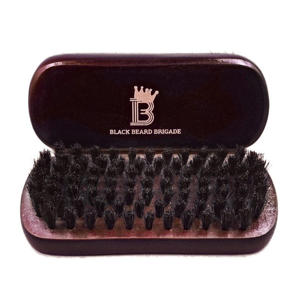 50+ cool gifts under $15 for men and women: Black Beard Brigades Brush in choice of engraved woods