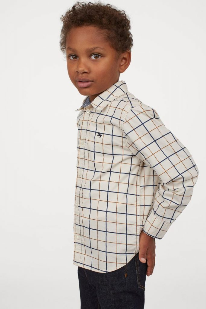 50+ gifts under $15 for kids: Cotton dress shirt at H&M