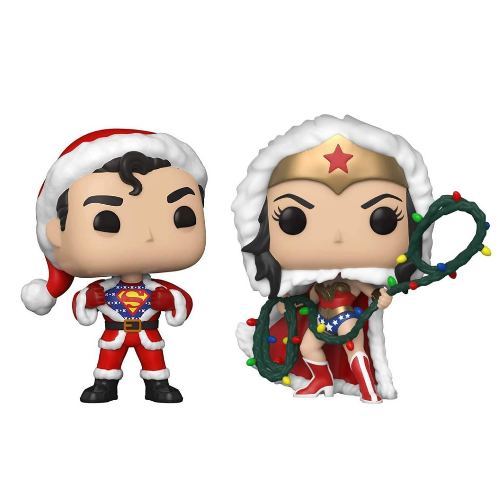 50+ gifts under $15 for kids: DC Superman and Wonder Woman Christmas edition Funko Pop
