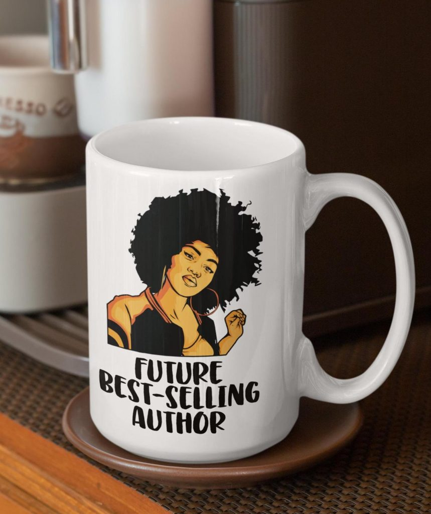 Future Best Selling Author Mug by Izzie Mac: Cool gifts under $15