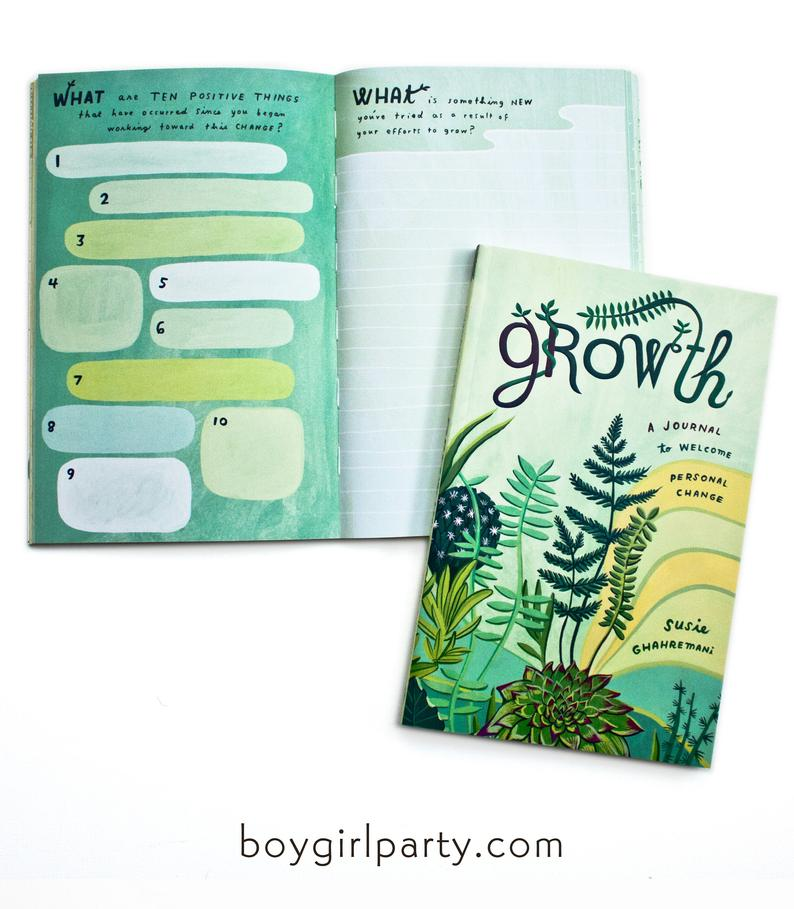 50+ gifts under $15 for kids: Illustrated growth journal from BoyGirlParty