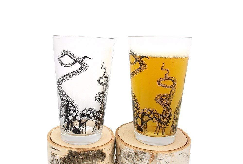 Best holiday gifts on Amazon: Handmade Whiskey Glassesor Pint Glasses from Black Lantern