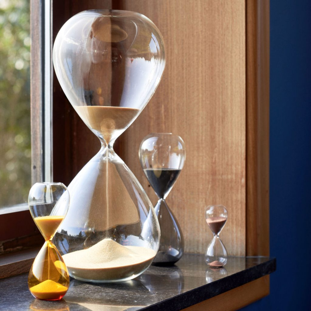 50+ cool gifts under $15 for men and women: Hay Time Small Hourglass at MoMA Store