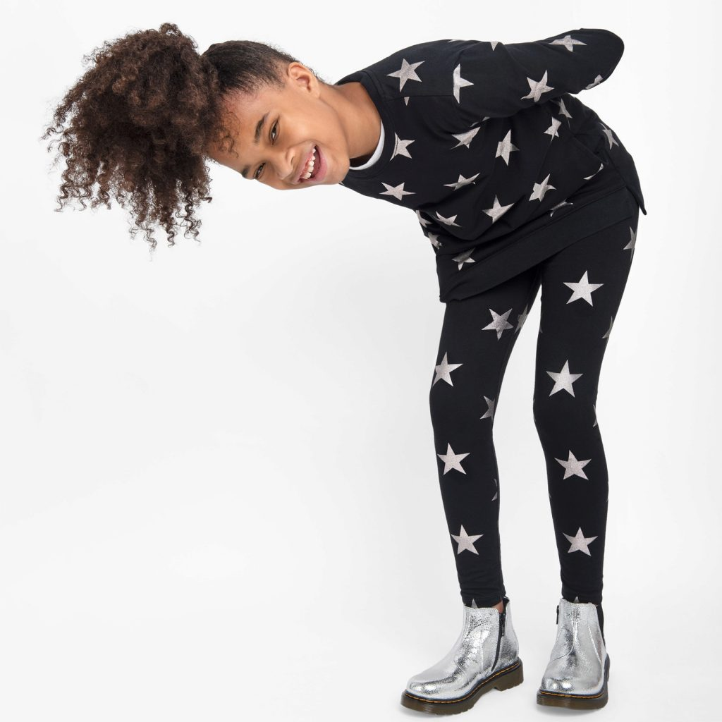50+ gifts under $15 for kids: Metallic star leggings