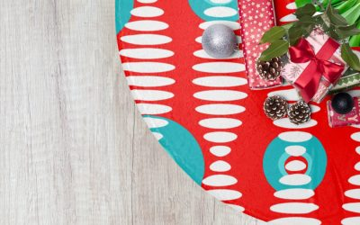 These retro-modern tree skirts make your Christmas decor the ginchiest.