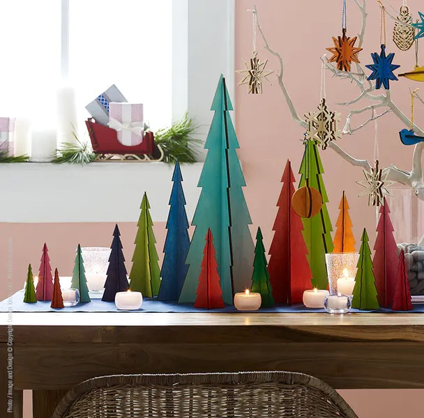 50+ cool gifts under $15 for men and women: Mini multi-colored tree decor