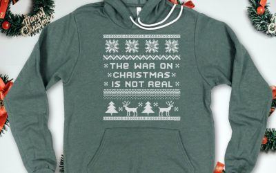 These shirts remind us that it's almost as if…there's no war on Christmas at all. Weird.