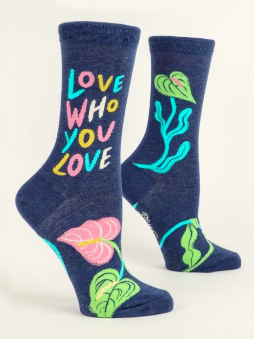 Blue Q Love Who You Love socks are a great Valentine's Day gift for a friend