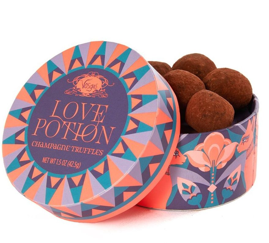 Send your friend a box of Vosges Love Potion Champagne Truffles for Valentine's Day