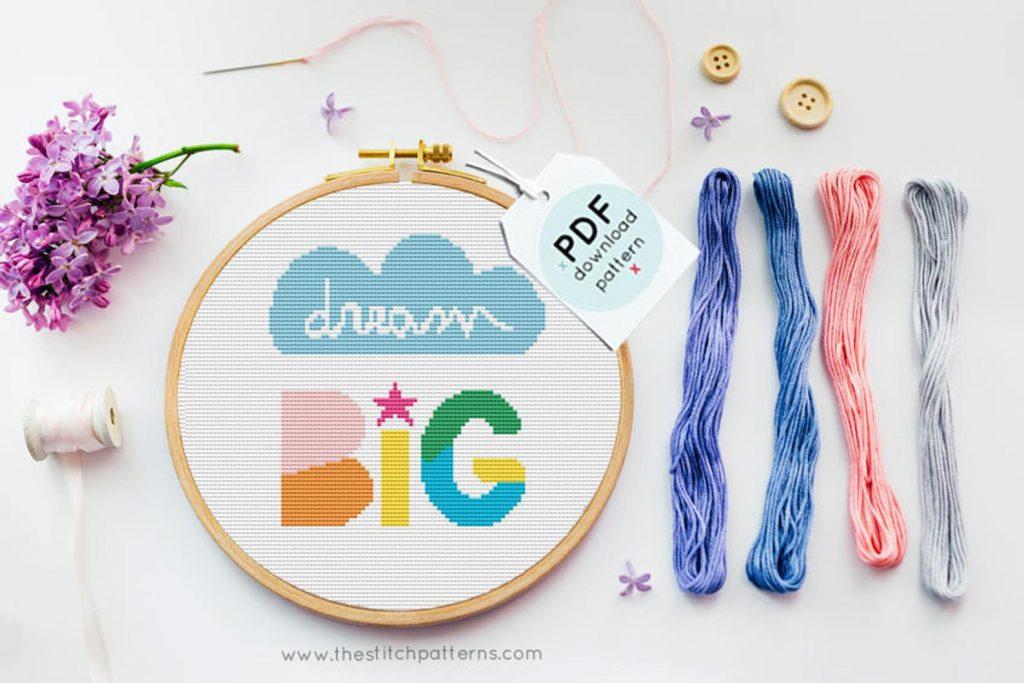 10 best baby gifts under $10: A sweet cross stitch pattern for a DIY nursery art gift