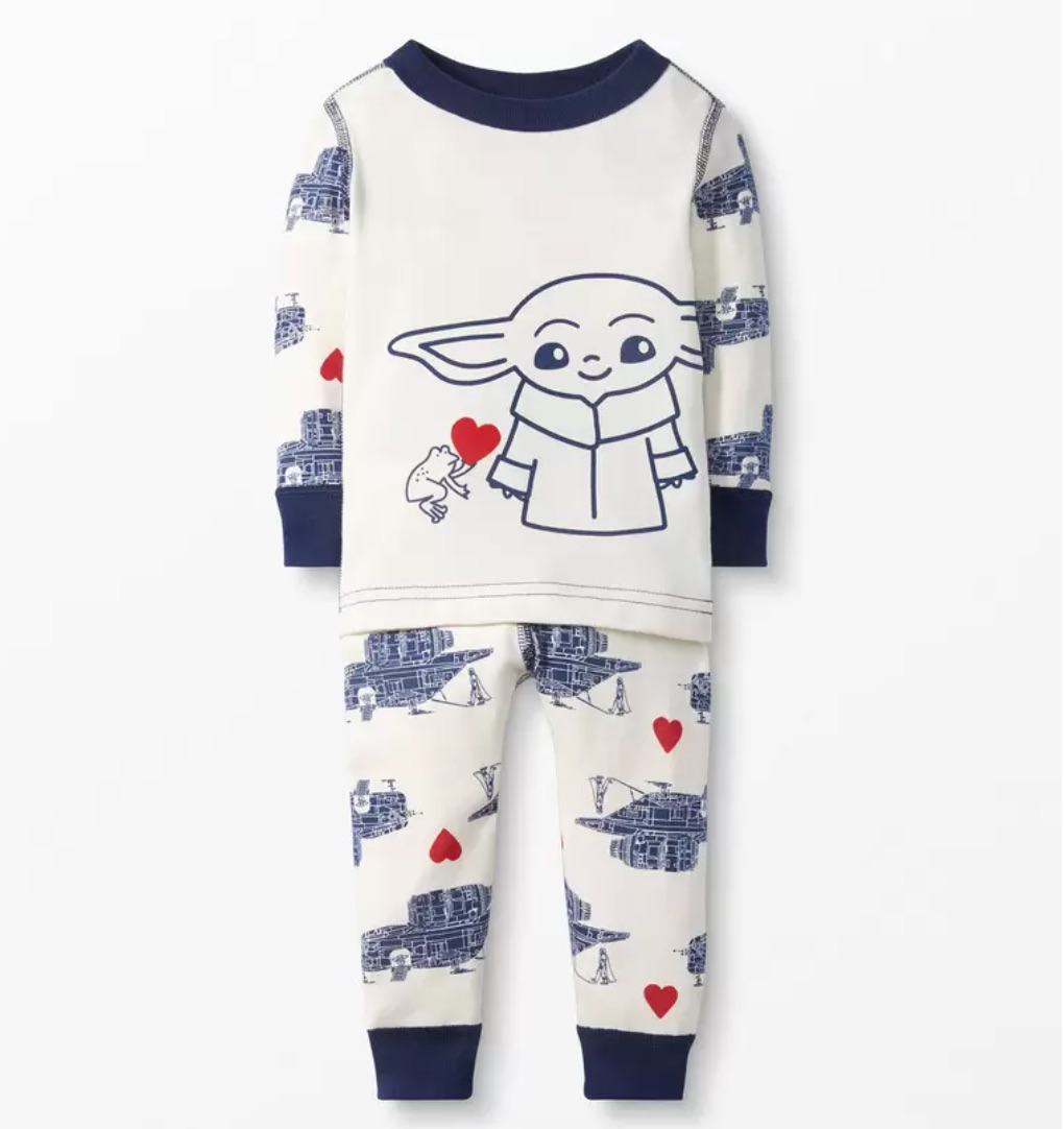 Valentine's Day gifts for babies: Baby Yoda pajamas | Hanna Andersson