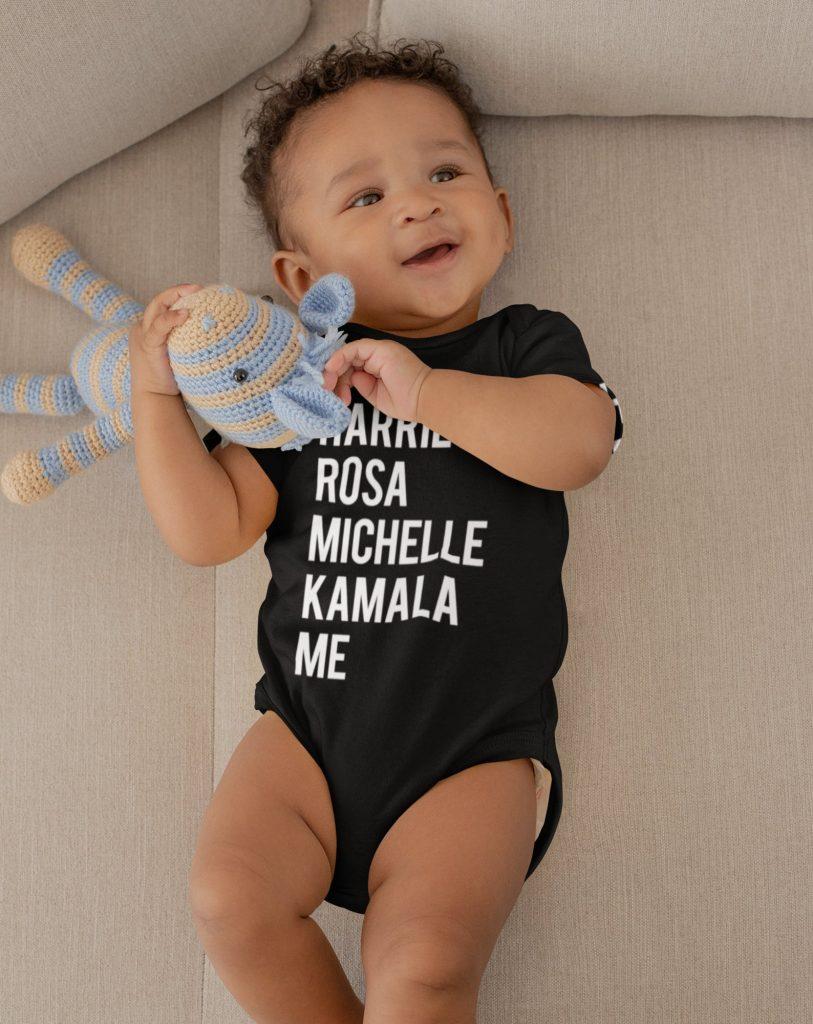 Best feminist baby gifts: Black Feminist leader baby onesie