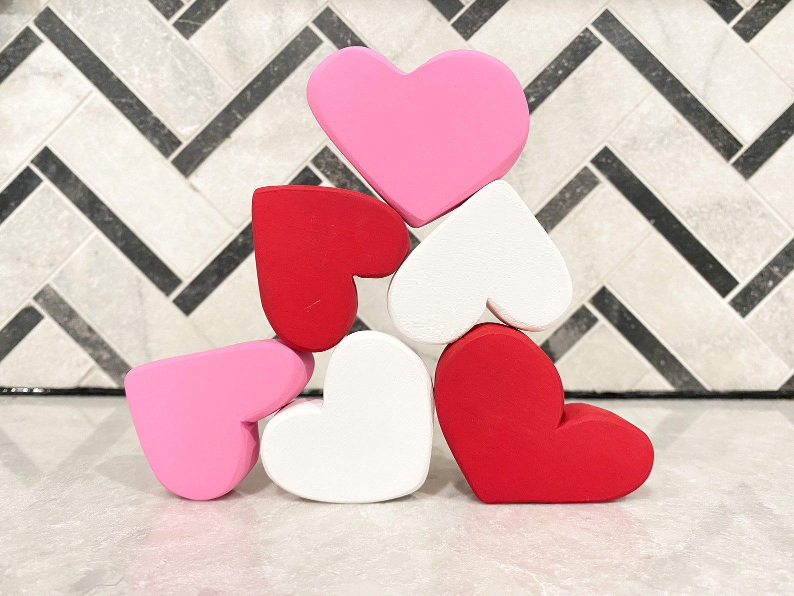 Valentine's Day gifts for babies: Stacking hearts at Little Ones Wood Co.