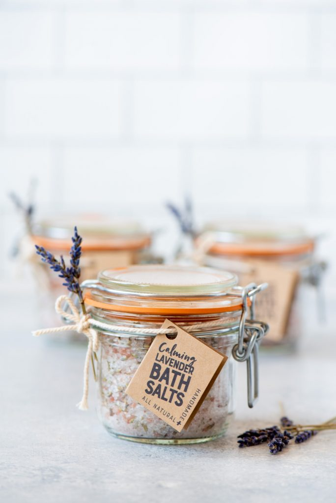 Handmade baby gifts: Lavender bath salts DIY from Wholefully