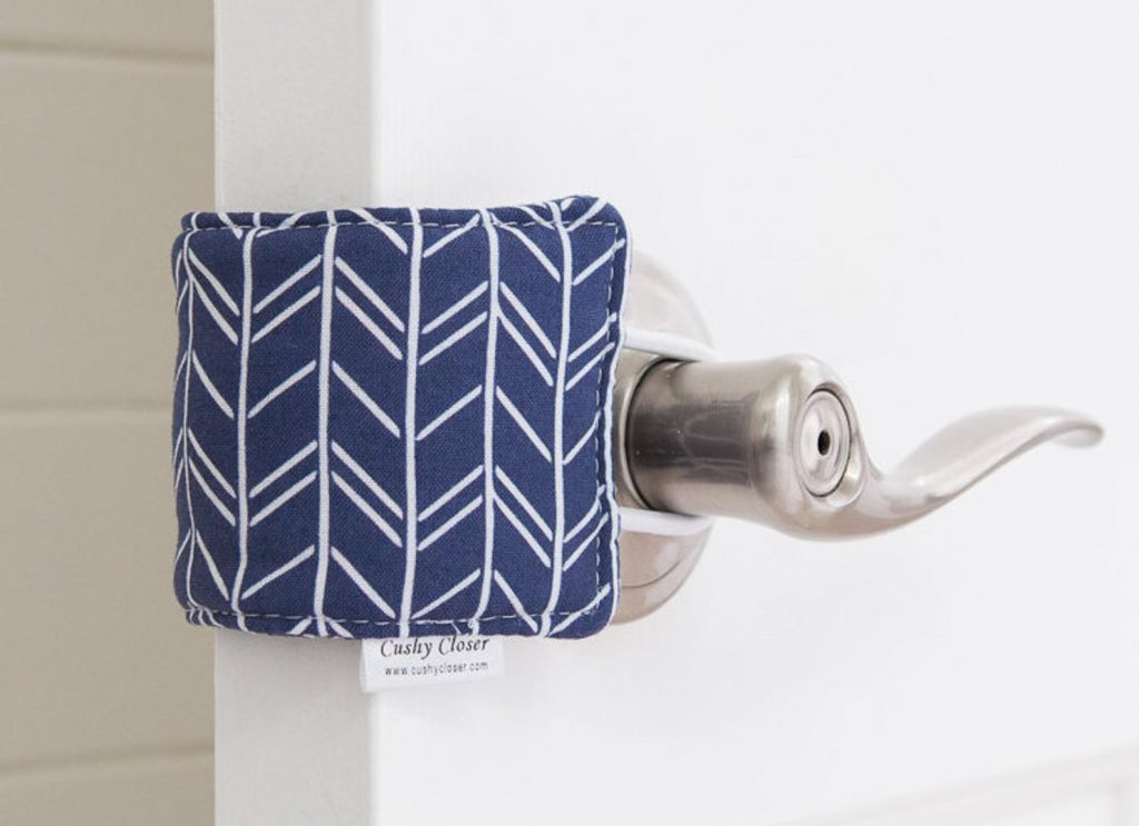 The best practical baby gifts: A cushy closer door cushion to avoid slammed doors!