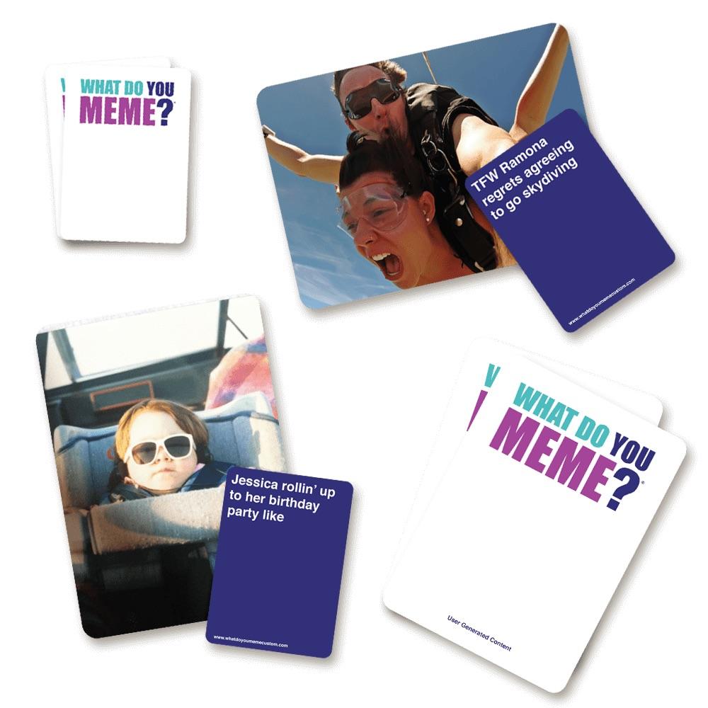 What Do You Meme Custom Game Cards for teen's Easter gift
