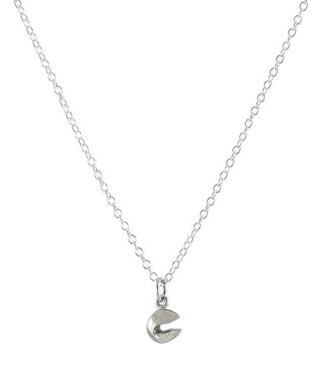 Peggy Li's sterling fortune cookie necklace, with 100% of profits supporting hard-hit Chinatown businesses